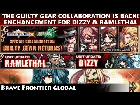 Guilty Gear Collaboration Is Back! Enhancements For Dizzy & Ramlethal (Brave Frontier Global)