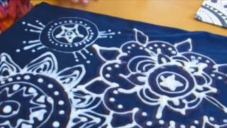 Damask shirt design using CLOROX bleach:  DIY
