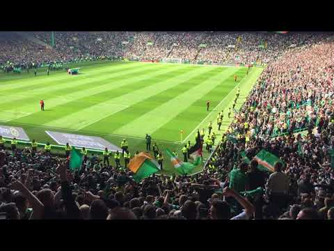 Celtic Fans in full voice   Beautiful Sunday