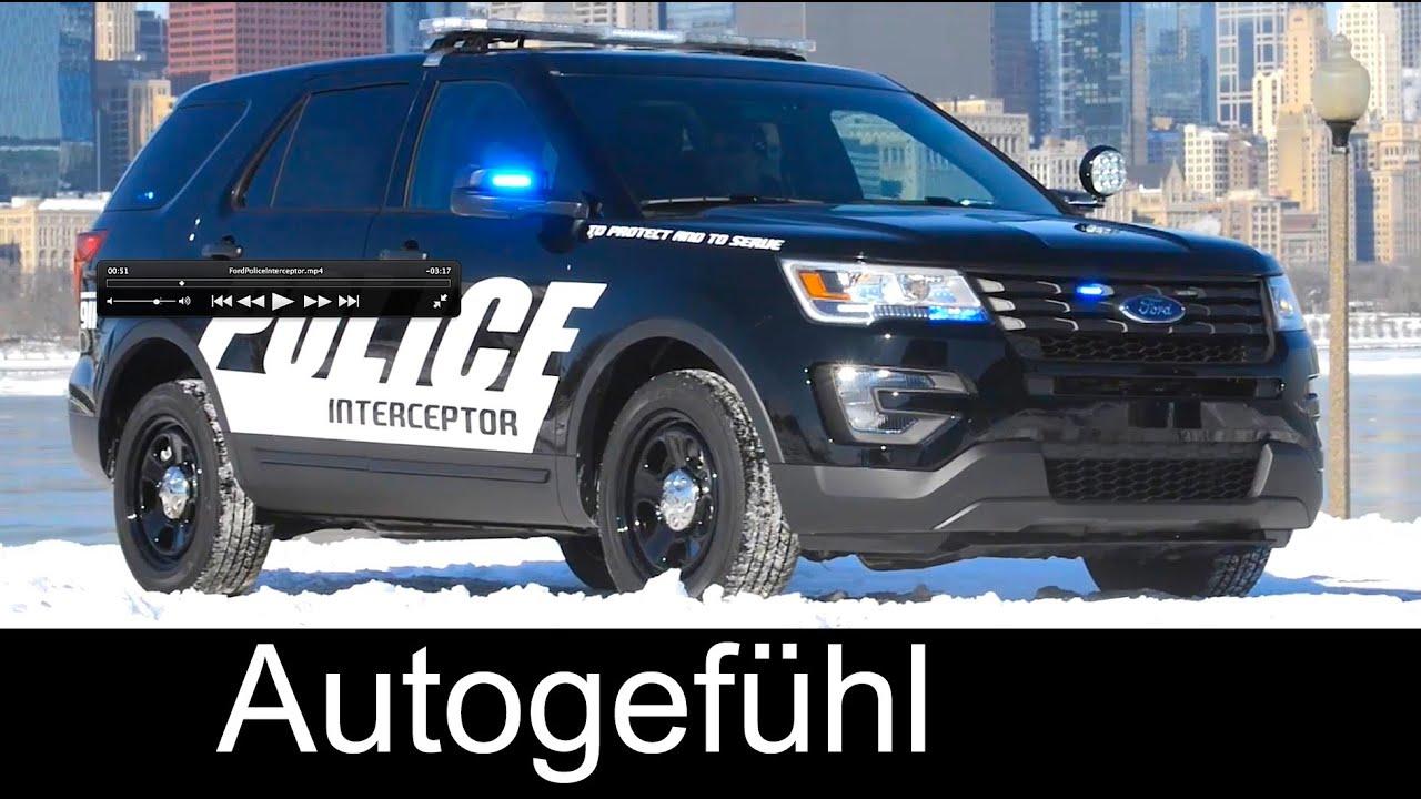 2016 ford police interceptor utility sedan exterior driving modification plant youtube