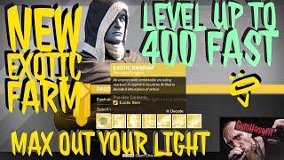 Destiny 1: How to get to 400 light fast : Exotic Farm 2017