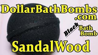 Dollar Bath Bombs SANDALWOOD Black Bath Bomb - DEMO - Underwater View - Review $1 Bath Bombs!!!!