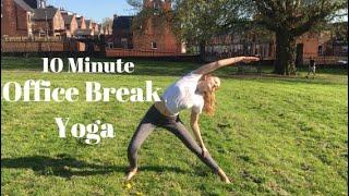 10 Minute Office Break Yoga Stretches