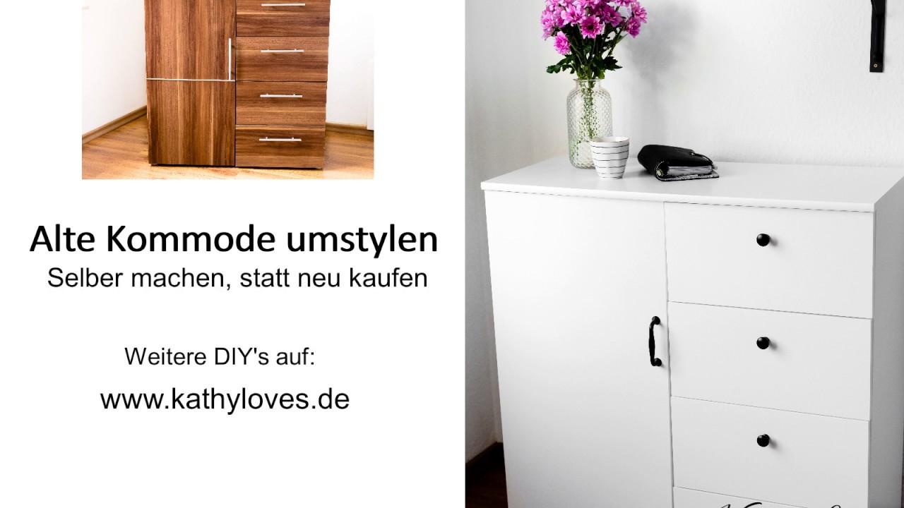Alte Kommode neu lackieren | Günstige Möbel neu gestalten ...