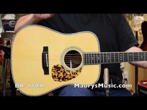 Blueridge BR-140A, BR-160A, BR-180A comparison at MaurysMusic.com