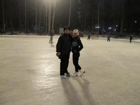 Ice-skating in Finland