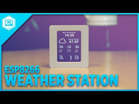 ESP8266 WiFi Weather Station with Color TFT Display