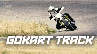 WE TOOK TWELVE 701 SUPERMOTO ON A GO KART TRACK! | 701 RIDEOUT