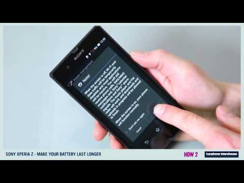 SONY XPERIA Z - HOW 2 Make your battery last longer?