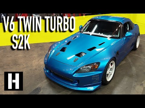 Twin Turbo'd and V6 Swapped S2000: Not your average S2K!!