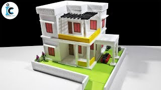 How To Make A Dream House From Thermocol-DIY Thermocol Mansion