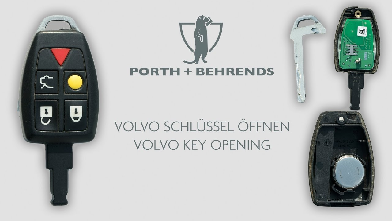 volvo schlÜssel Öffnen/volvo key opening - youtube