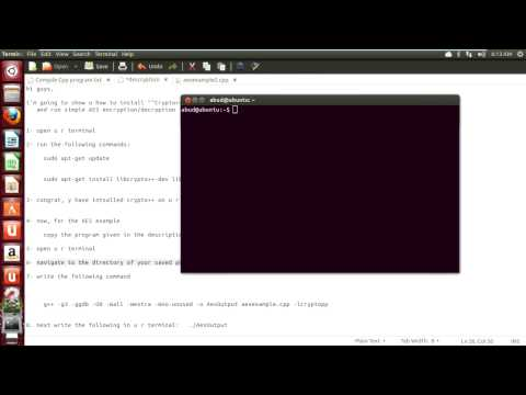Installing Crypto++ library on Ubuntu with AES example