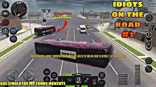 IDIOTS on the road #2   Bus simulator ultimate multiplayer funny crashes & fails compilation! screenshot 5