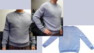 남자 탑다운스웨터 뜨기 (1)  예쁜 스웨터를 선물 해…