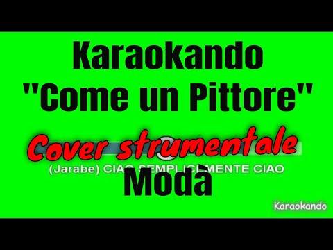 Karaoke Italiano - Come un Pittore - Modà -Jarabe de Palo  Testo