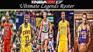 Nba 2k17 ultimate legends roster no duplicates (ps4)