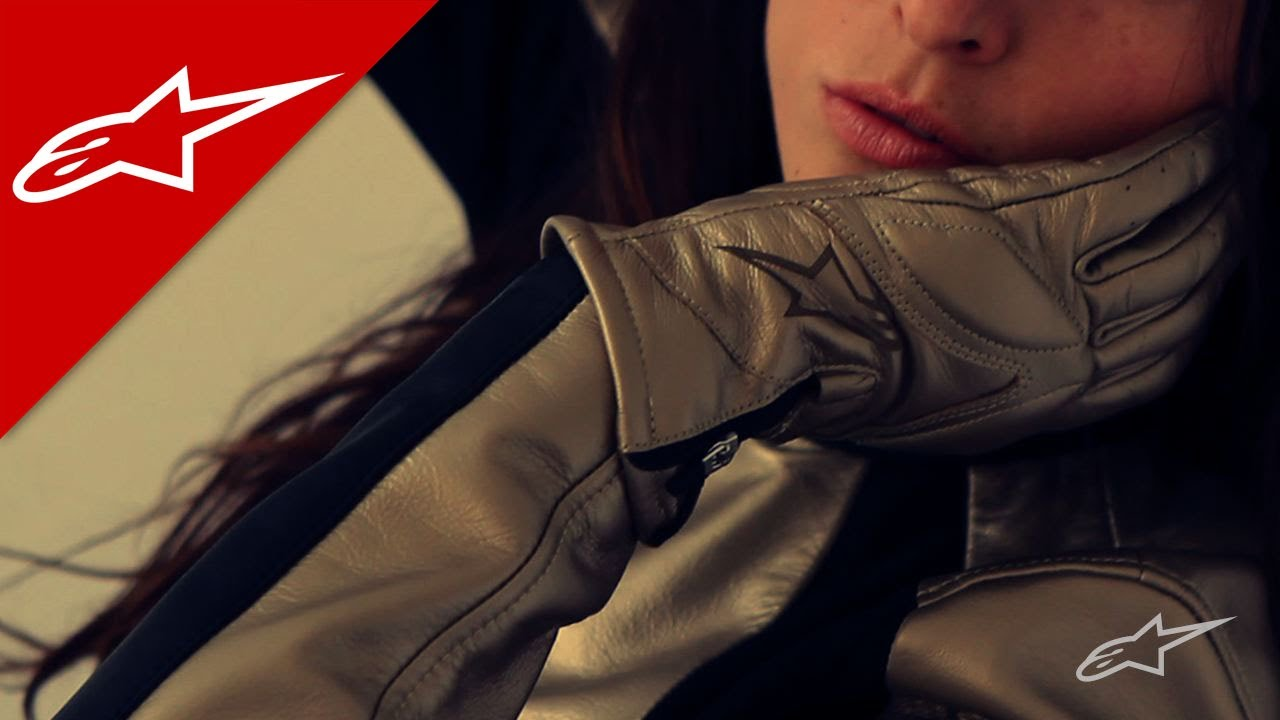 Stella VIKA Women s Leather Motorcycle Glove by Alpinestars - YouTube 38bedb7f22