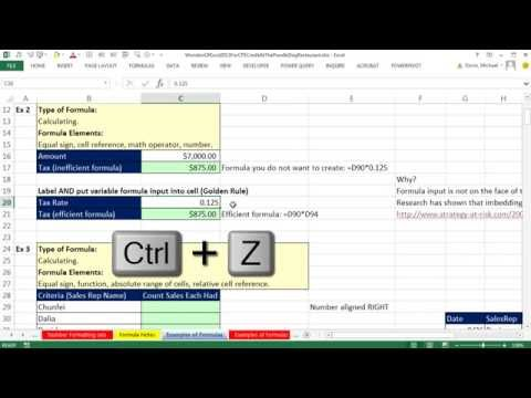 Excel 2013 Accounting Tricks for Excel CPE Credit at Poodle Dog Restaurant (50 Examples)