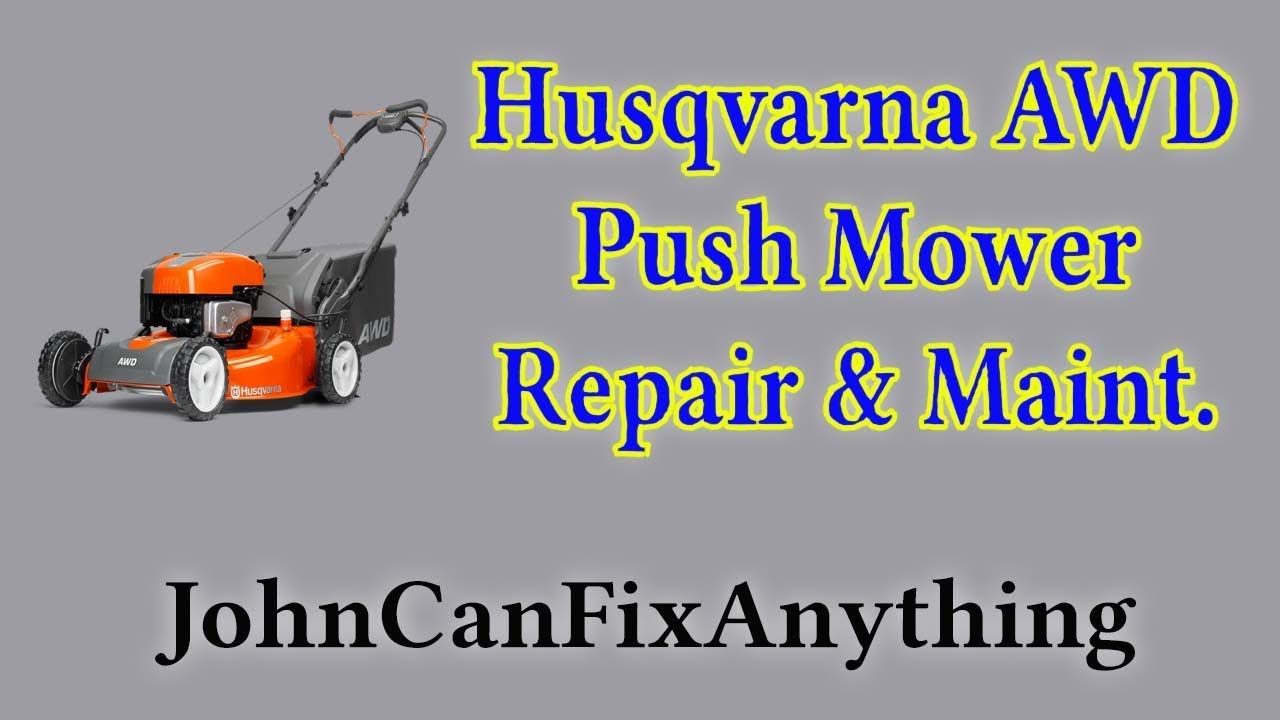 husqvarna awd push mower belt replacement maintenance repair [ 1280 x 720 Pixel ]