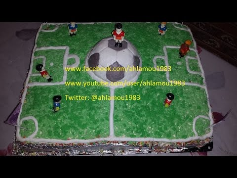 gateau en forme de stade de foot doovi. Black Bedroom Furniture Sets. Home Design Ideas