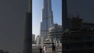 Burj Khalifa - Worlds Tallest Tower - Can you spot the man hanging onto the side?