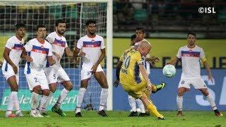 ISL Season 4| Kerala Blasters Vs FC Goa| Iain Hume Free Kick