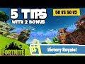 """5 Tips To Get You PRO In """"50 Vs 50 V2 LTM""""! (Fortnite Battle Royale)"""