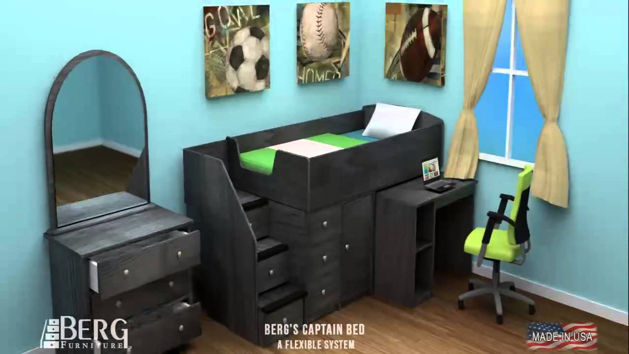 Berg Furniture Captain S Bed Animation