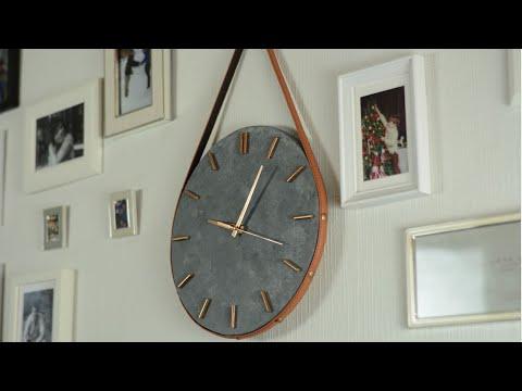 Стильные часы своими