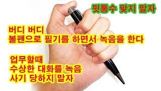 버디 볼펜녹음기 PV 20 H 연속20시간사용 업무용 …