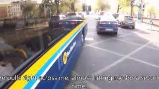 dublin bus driver and cyclist road rage in full daylight