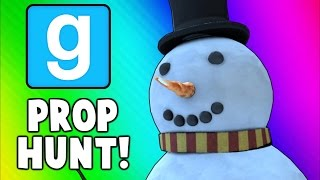 Gmod Prop Hunt Funny Moments - Santa Tit Trick Shot, 21 Questions, Epic Body Launches! (Garry