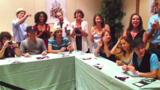 "Darren Criss & Cast from ""A Very Potter Musical"" meeting fans at Infinitus 2010 Harry Potter"