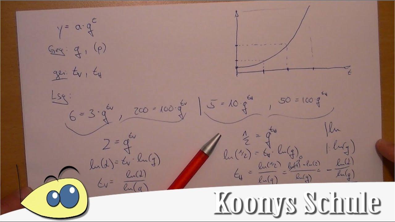 Halbwertszeit und Verdopplungszeit - Exponentielles Wachstum ...