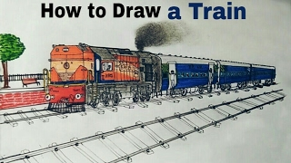 How to Draw a Train | Locomotive class WDM-2 | ARTIST MUNDA