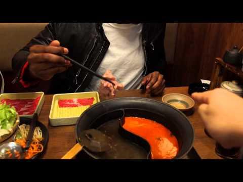厚切りのステーキが大好きなアメリカ人に初めて『温野菜』で日本のしゃぶしゃぶを食べさせてみた