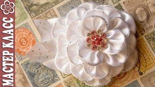 Канзаши в школу / Контур для ткани ✄ Kulikova Anastasia(В этом видео уроке я покажу как сделать красивый праздничный новогодний цветок канзаши. Лепестки этого..., 2014-12-17T15:00:06.000Z)