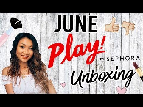 June Sephora PLAY! Box Unboxing & Try-On | Karen Lin