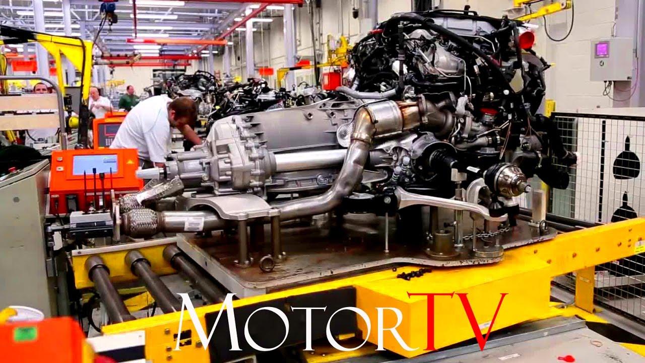 Car Factory Bentley W12 Engine L Production
