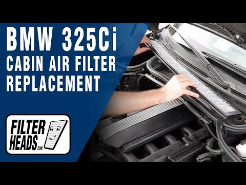 How To Replace Cabin Air Filter Bmw 325ci Youtube