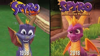 Spyro Reignited Trilogy vs Spyro the Dragon | Direct Comparison