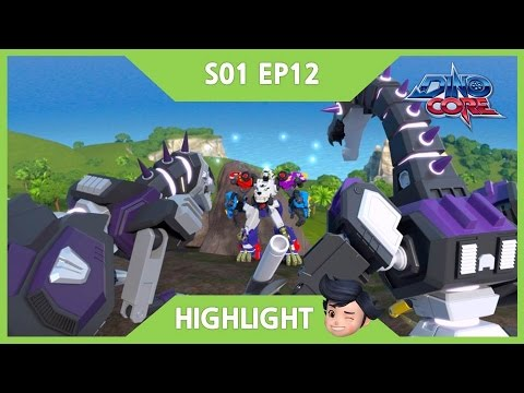 Thumbnail: [DinoCore Highlight] Showdown! Rex vs. Darkno | 3D | Dinosaur Animation | Season 1 Episode 12