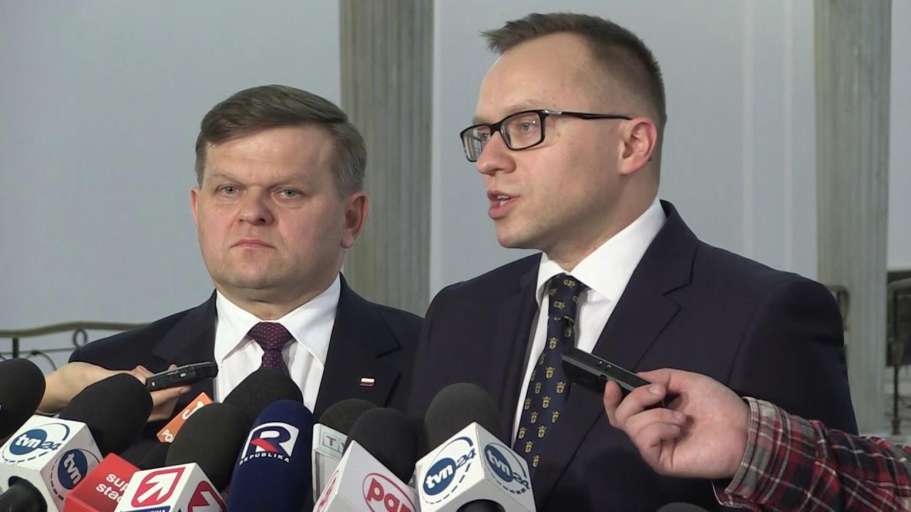 W. Skurkiewicz, A. Soboń – Briefing prasowy Posłów PiS w Sejmie