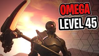 Omega lvl 45 | Onslaught Harvesting Tool Visual/Sound Test - Fortnite Season 4 Battle Pass