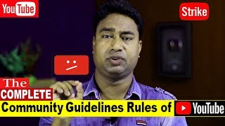 A to Z Complete Youtube Community Guidelines Rules of YouTube 2018 for Youtubers