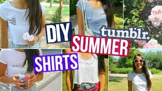 DIY Summer Shirts! Tumblr & Brandy Melville Inspired