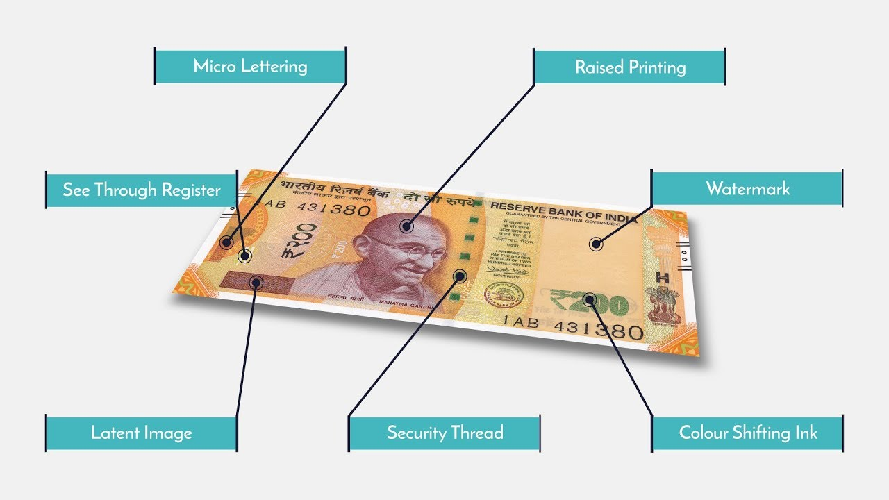 Fake or Real : 7 must know security features of the new 200 rupee note!