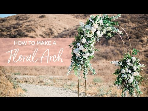 DIY Floral Wedding Arch