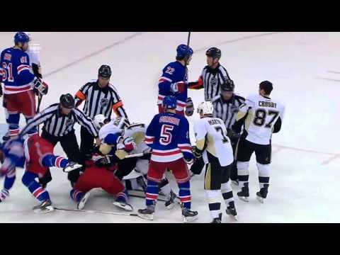 Henrik Lundqvist soaks Sidney Crosby w/slowmo replay | 05/11/2014 [HD]
